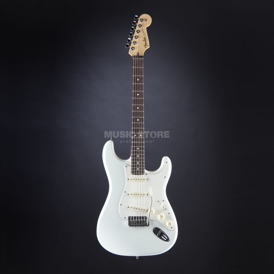 Fender CS Jeff Beck Strat RW OWH Olympic White, Case Produktbillede