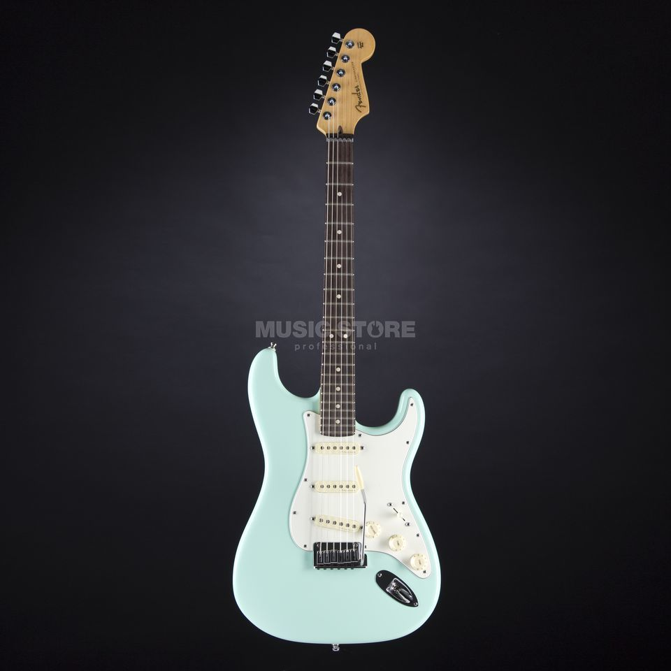 Fender CS Jeff Beck Strat RW SG Surf Green, Case Produktbillede