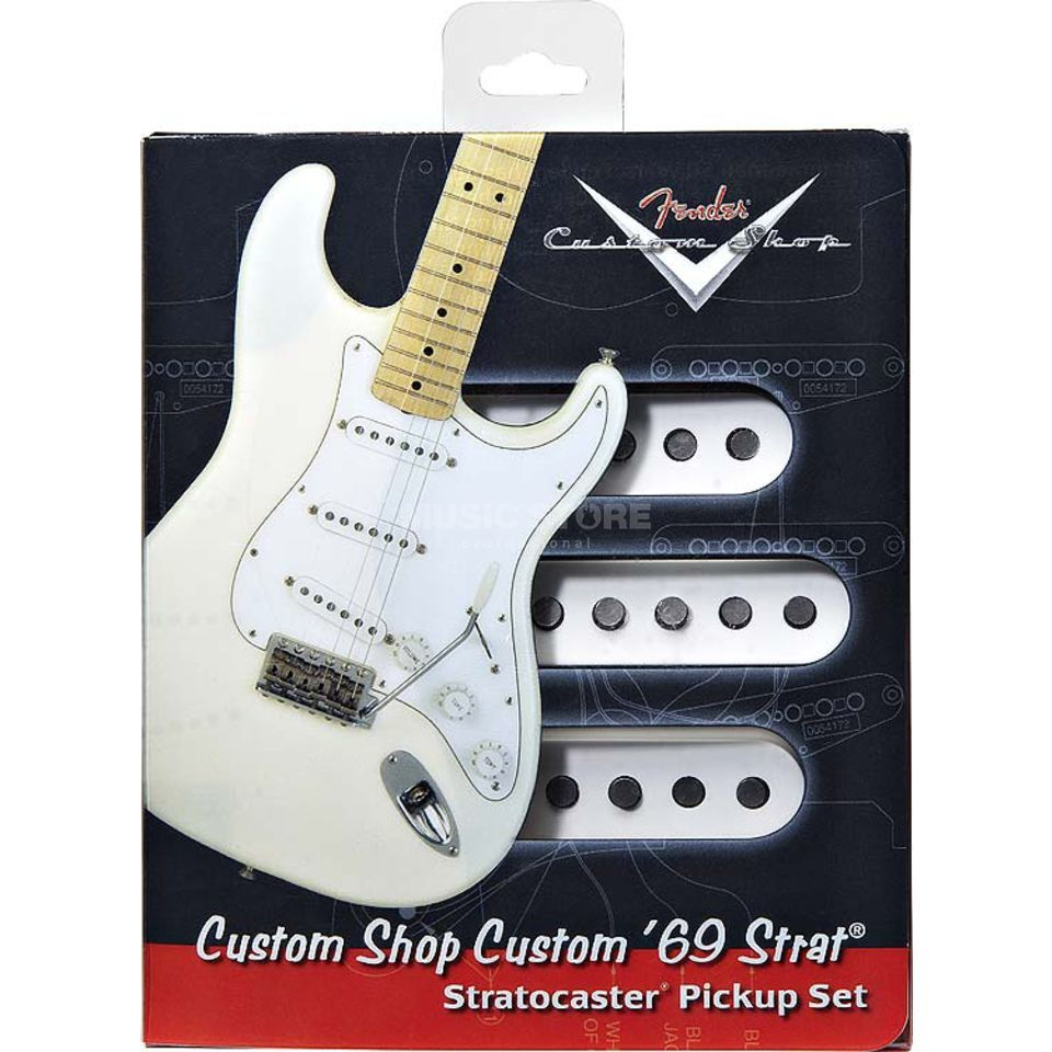 Fender Custom Shop '69 Strat Set Pickups white Immagine prodotto