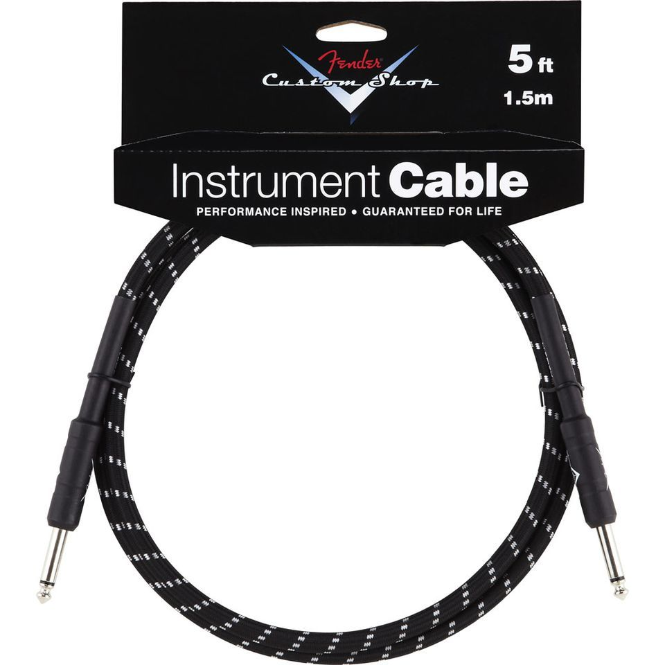 Fender Custom Shop Cable 1,5m BTW Black Tweed, Kli/Kli Produktbild