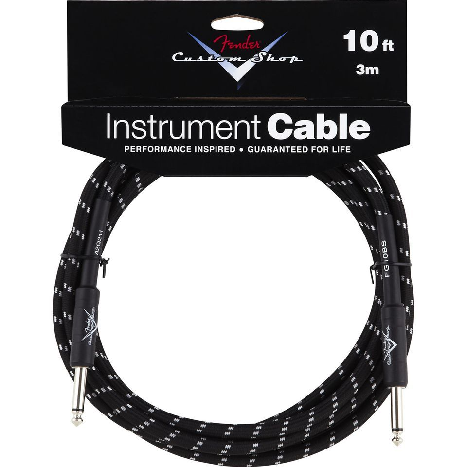 Fender Custom Shop Cable 3m BTW Black Tweed, Kli/Kli Produktbild