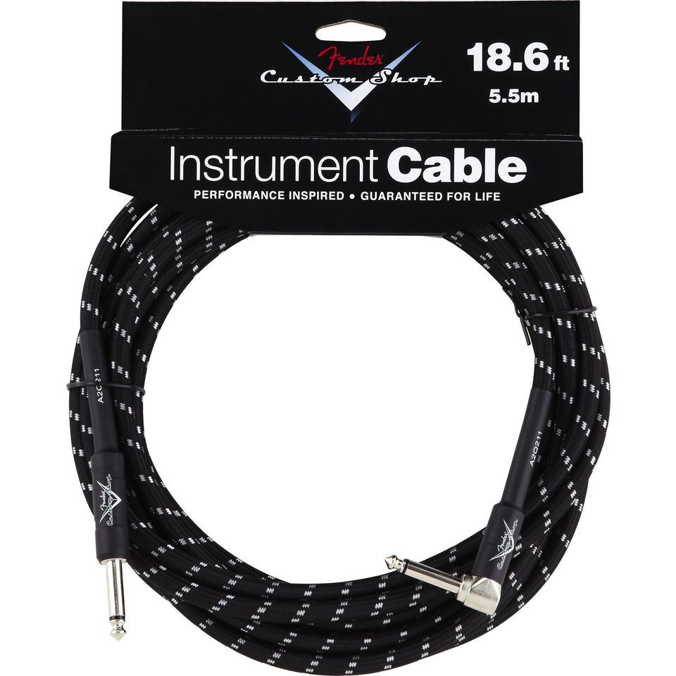 Fender Custom Shop Cable 5.5m BTW Black Tweed, Kli/WKli Produktbillede