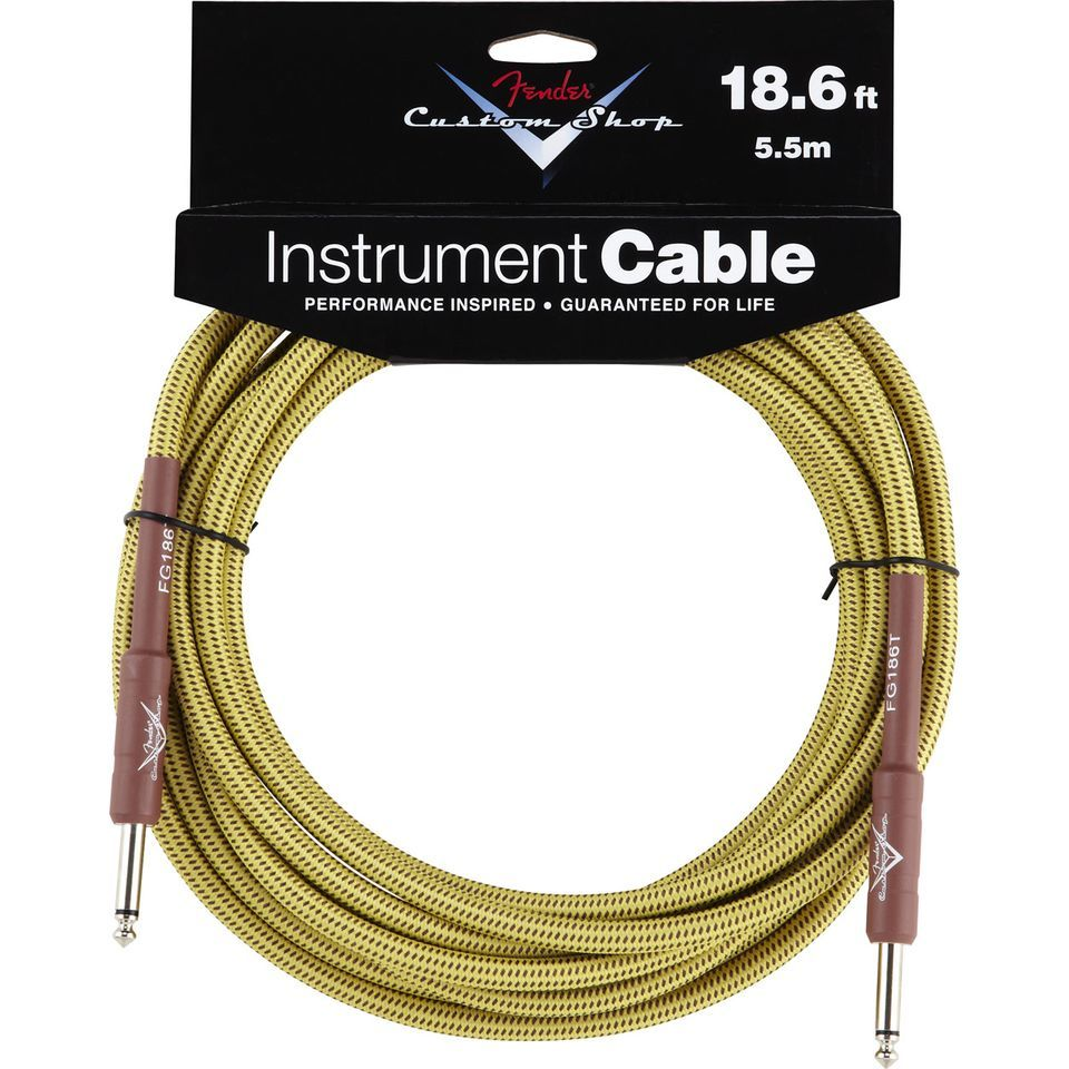 Fender Custom Shop Cable 5.5m TW Tweed, Kli/Kli Produktbillede