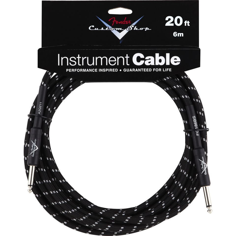 Fender Custom Shop Cable 6m BTW Black Tweed, Kli/Kli Produktbild