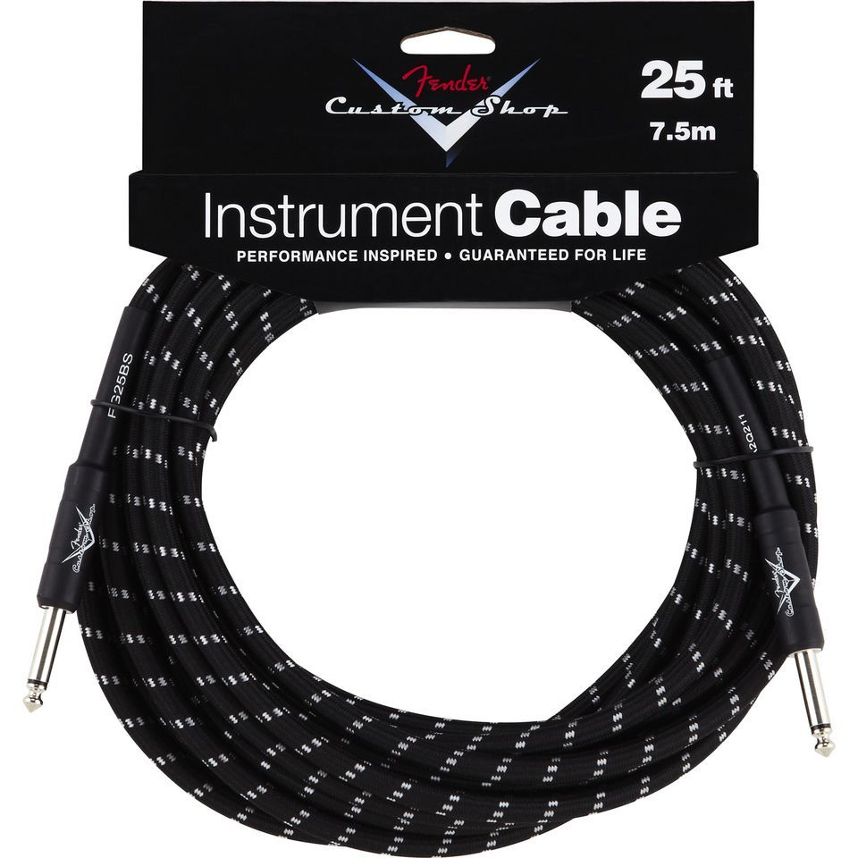 Fender Custom Shop Cable 7.5m BTW Black Tweed, Kli/Kli Produktbillede