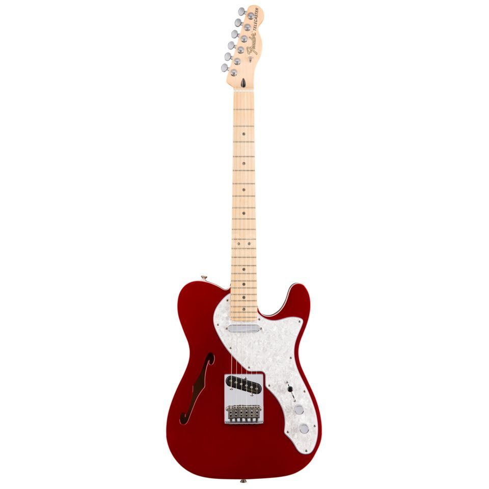Fender Deluxe Thinline Telecaster MN CAR Candy Apple Red Produktbillede