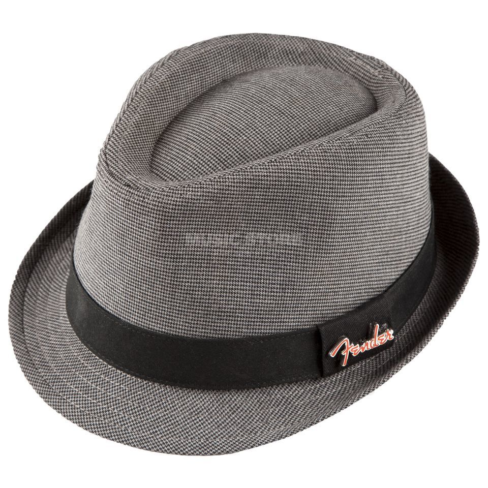 Fender Fedora Black/Gray Check S/M with Pin grey Produktbild