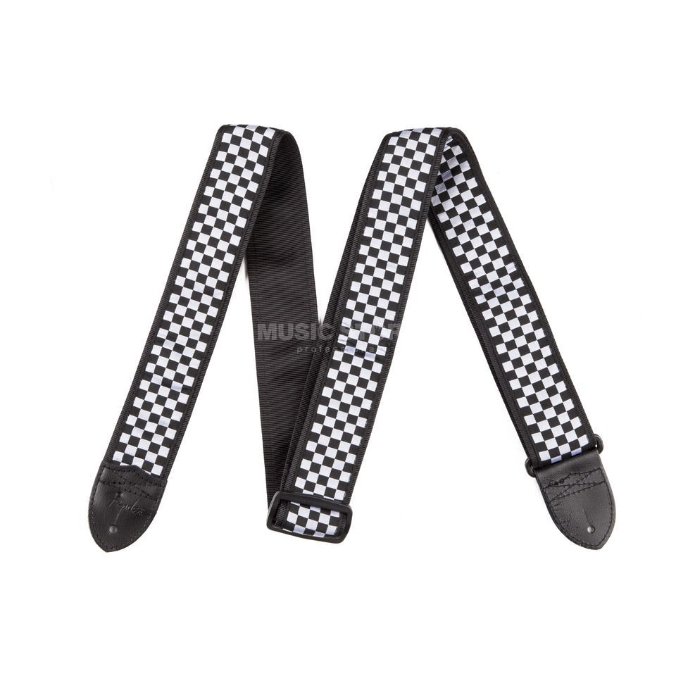 "Fender Guitar Strap 2"" Nylon Collec. Checkerboard Black/White Produktbillede"