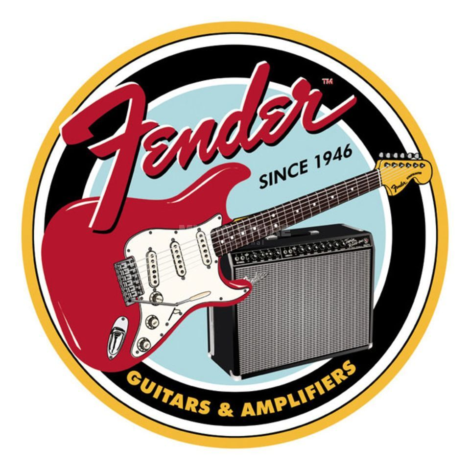 Fender Guitars & Amplifiers Tin Sign Blechschild Produktbillede