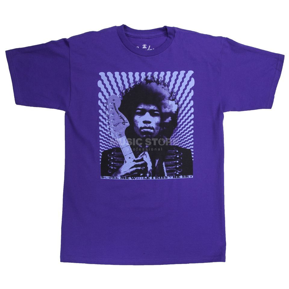 Fender Hendrix Kiss The Sky T-Shirt L Purple Produktbillede