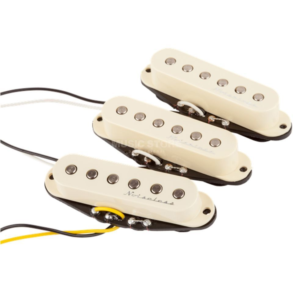 Fender Hot Noiseless Strat Set Jeff Beck Style White Covers Produktbillede
