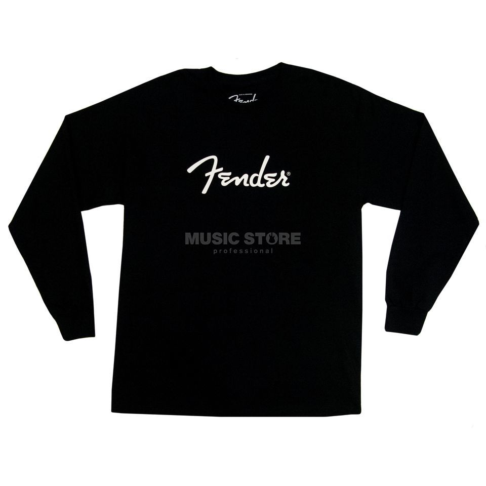 Fender Long Sleeve Shirt Logo XL Black Produktbillede