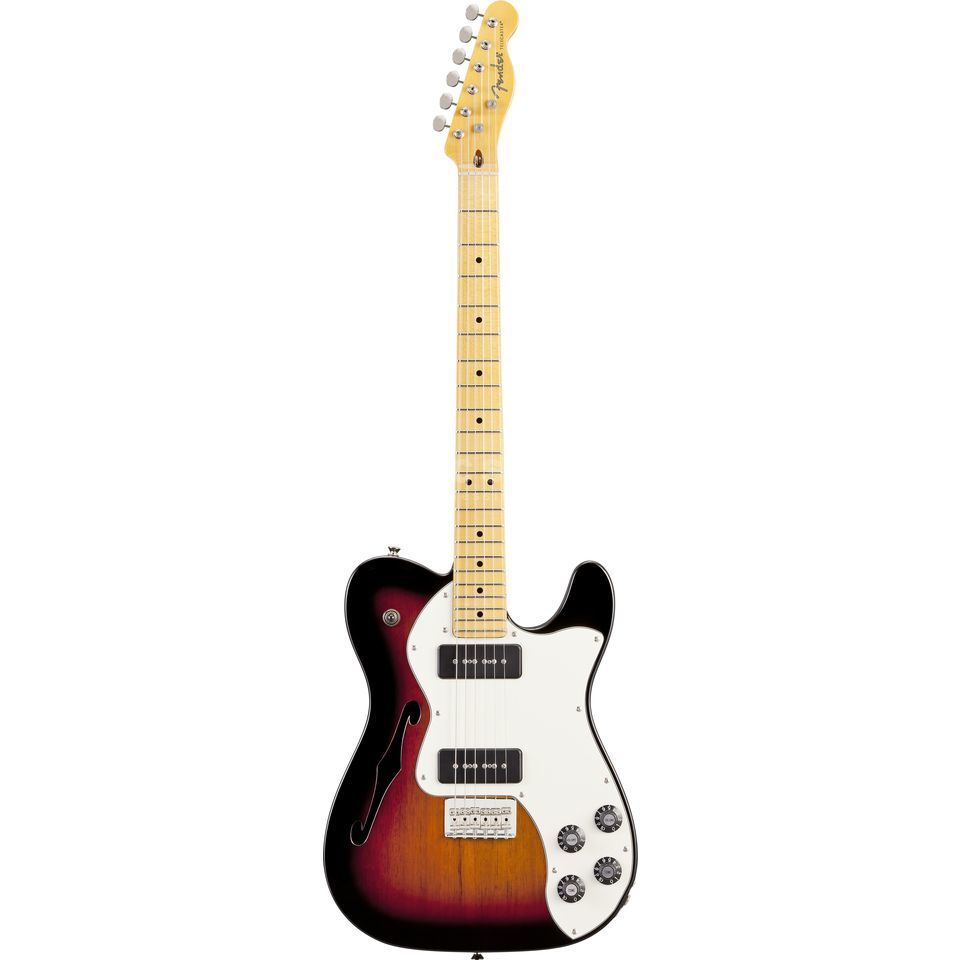 Fender Modern Player Telecaster Thinline Deluxe MN 3-Color Sunburst Produktbild