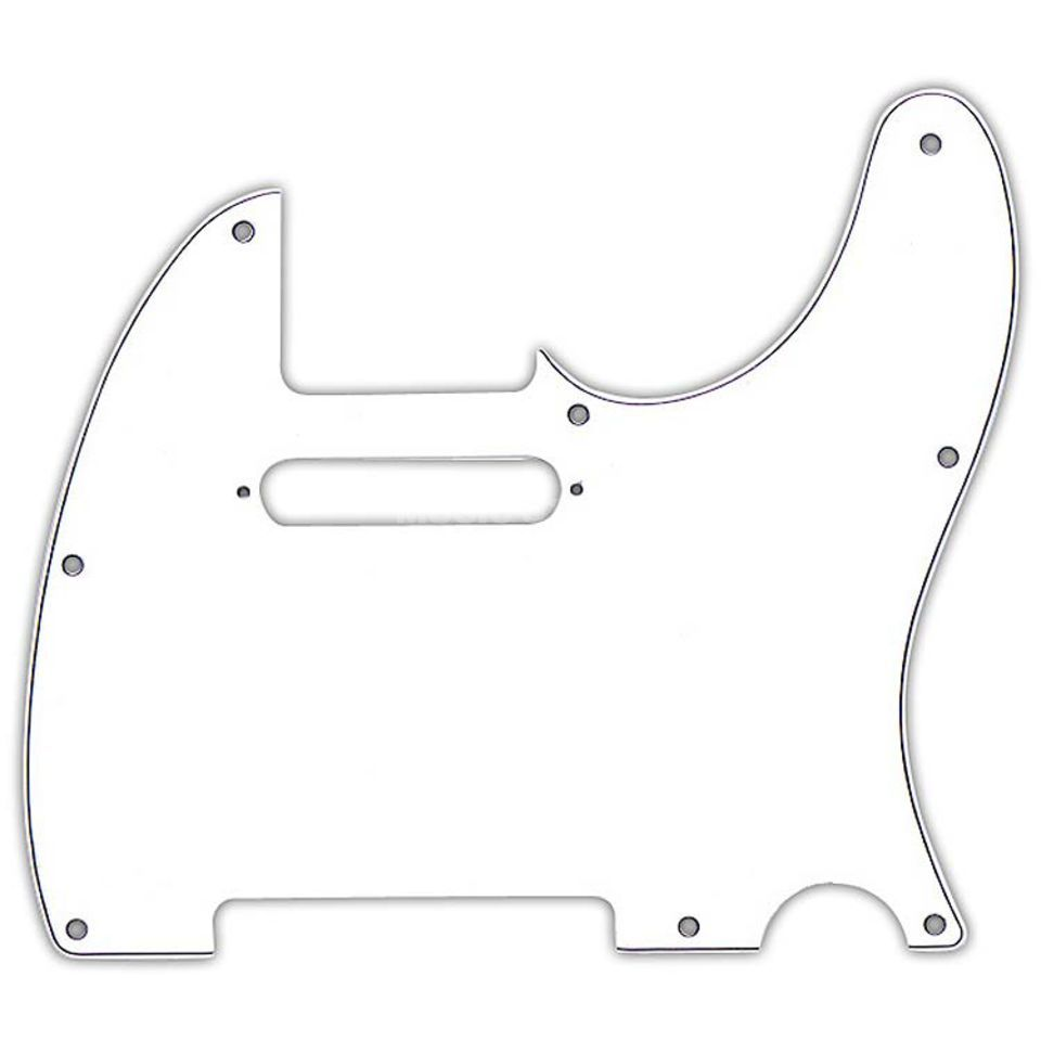 Fender Morn Style Pickguard Tele White 3-Ply 8-Hole Product Image
