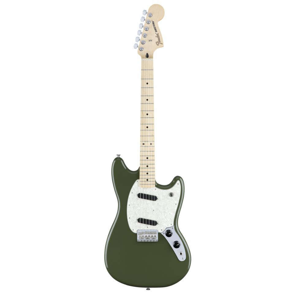 Fender Mustang MN Olive Product Image