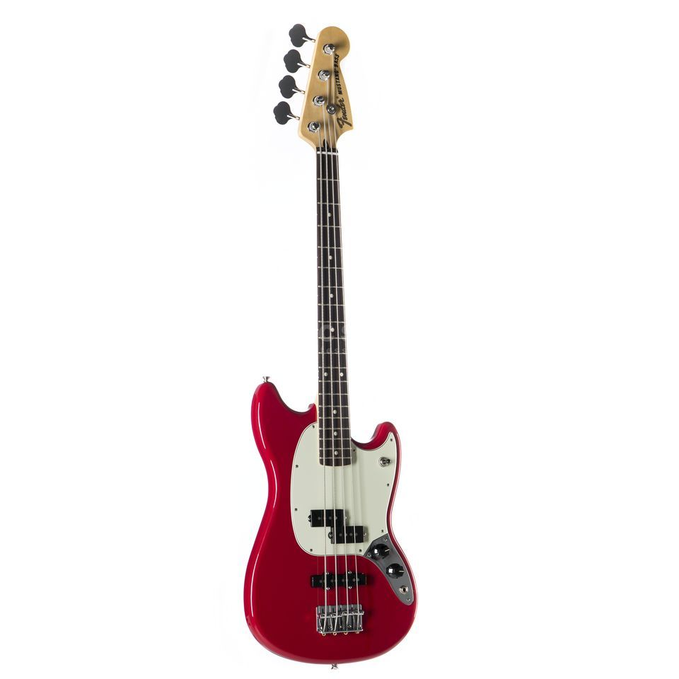 Fender Offset Mustang Bass PJ RW TOR Torino Red Product Image