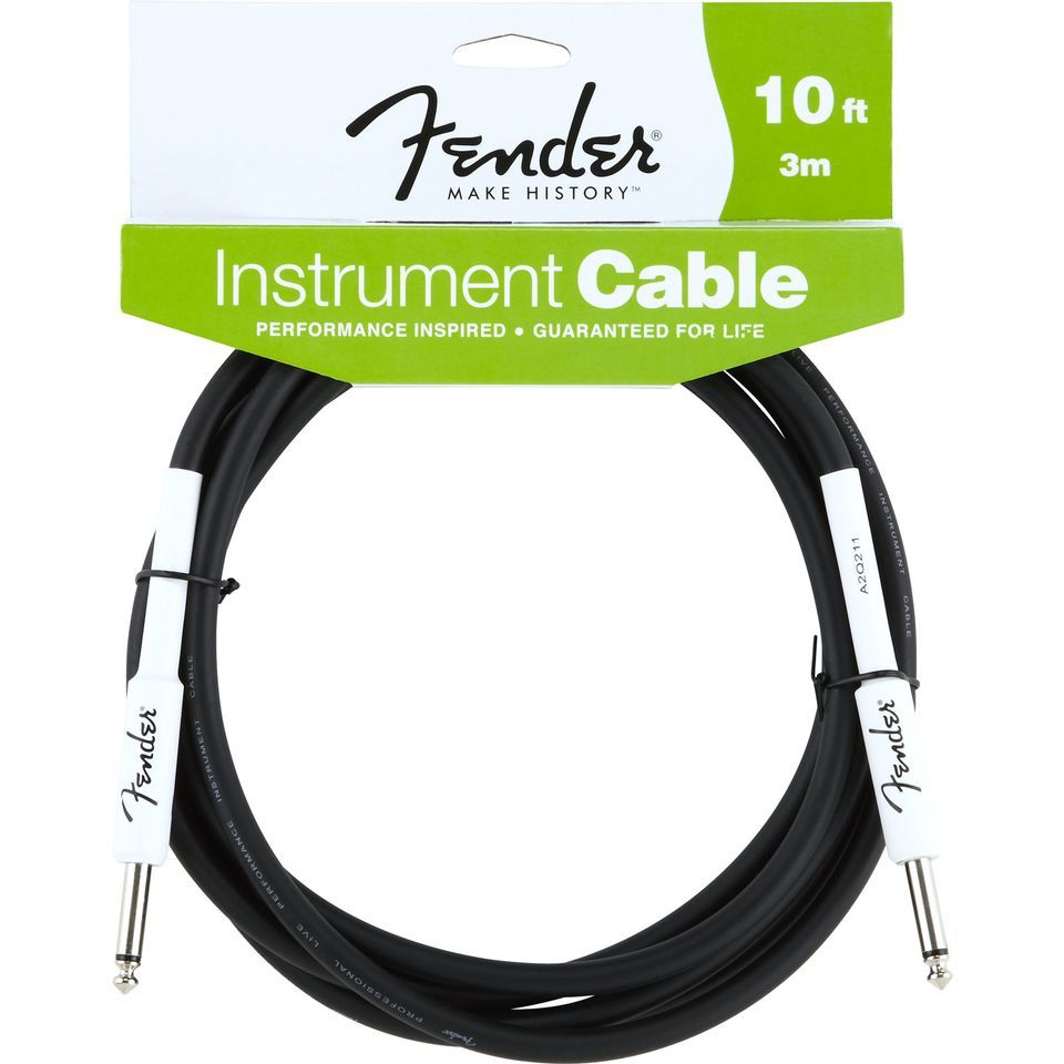 Fender Performance Cable 3m BLK Black, Kli/Kli Produktbild