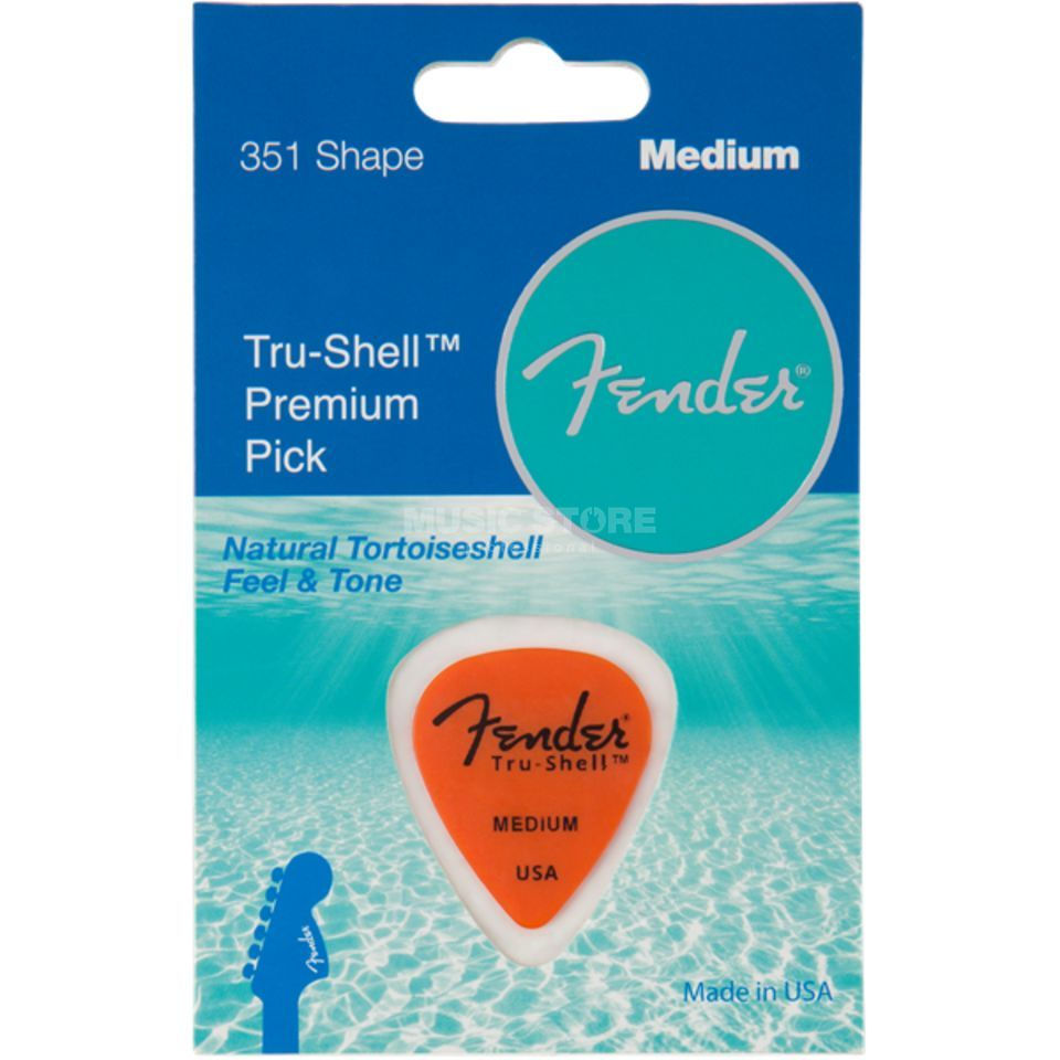 Fender Pick 351 Tru-Shell medium Produktbillede