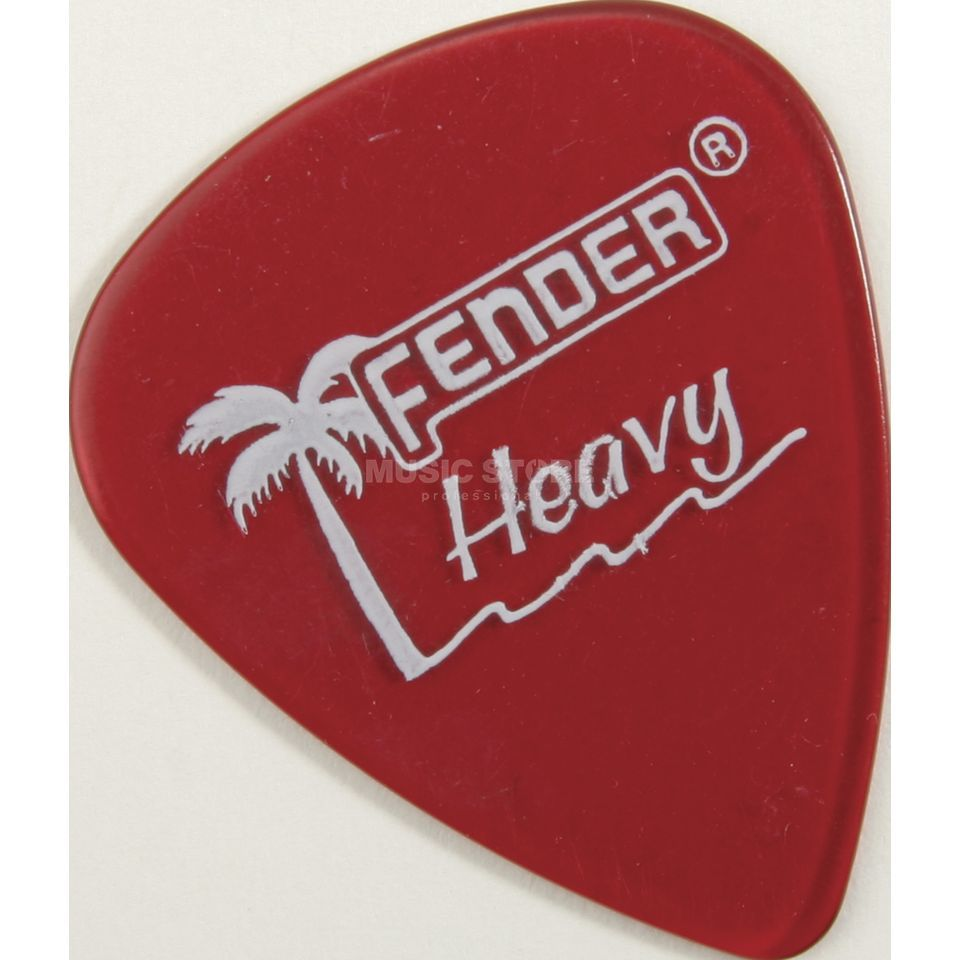 Fender Picks 351 California CAR heavy 12-Pack California Clear Produktbillede
