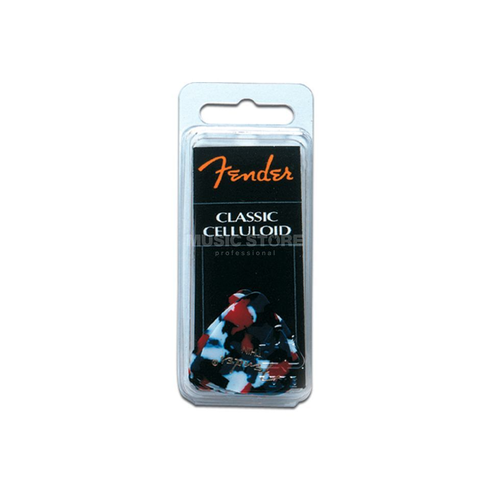 Fender Picks 351 Confetti thin 12er Set Classic Celluloid Produktbild