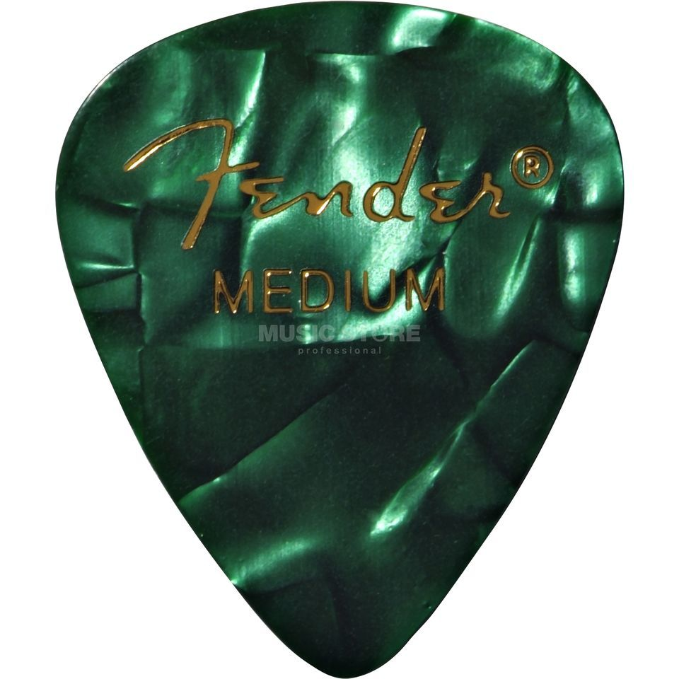 Fender Picks 351 Green Moto medium 12er Set Premium Celluloid Produktbild