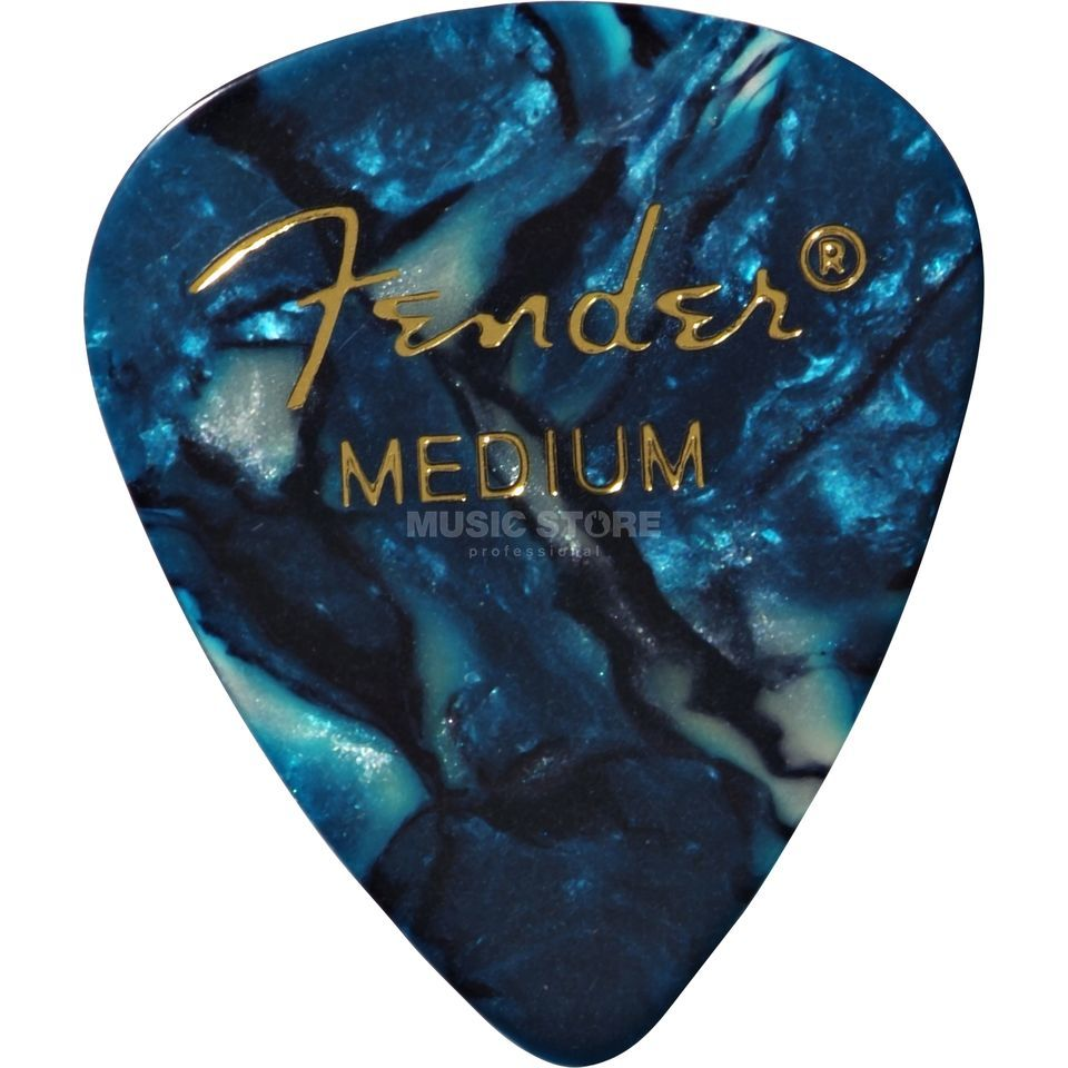Fender Picks 351 Ocean Turq medium 12-Pack Premium Celluloid Produktbillede