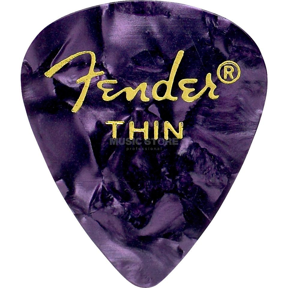 Fender Picks 351 Purple Moto thin 12er Set Premium Celluloid Produktbild