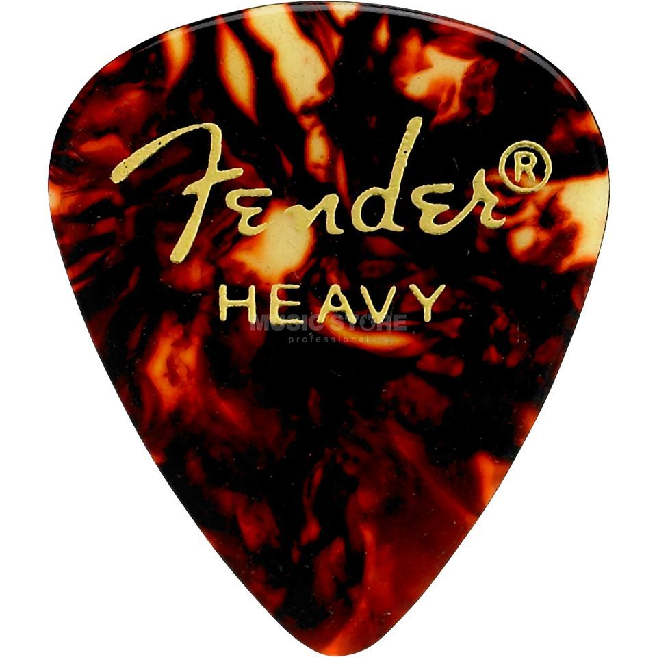 Fender Picks 351 Shell heavy 12-Pack Classic Celluloid Produktbillede