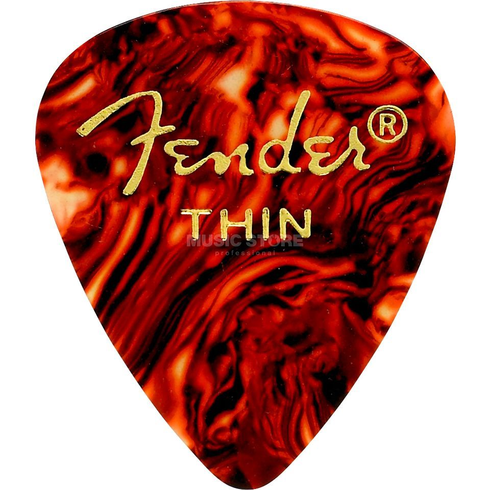 Fender Picks 351 Shell thin 12-Pack Classic Celluloid Imagem do produto