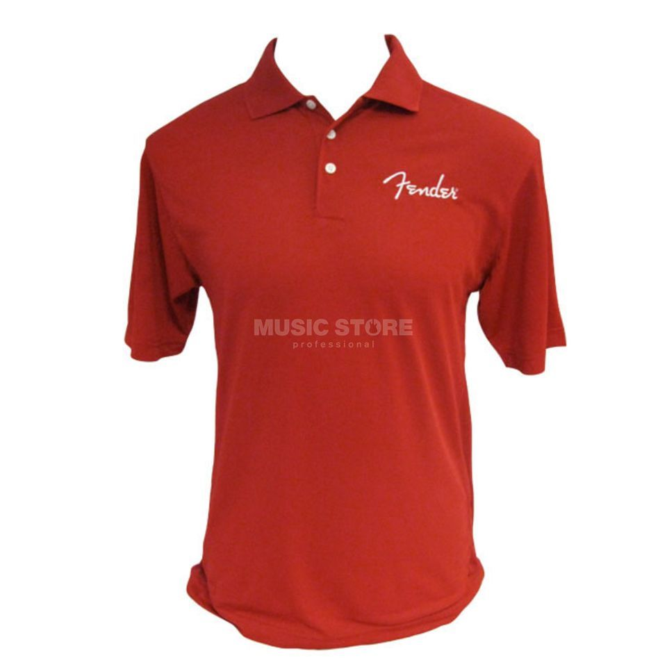 Fender Polo Spaghetti Logo Red XL  Produktbild