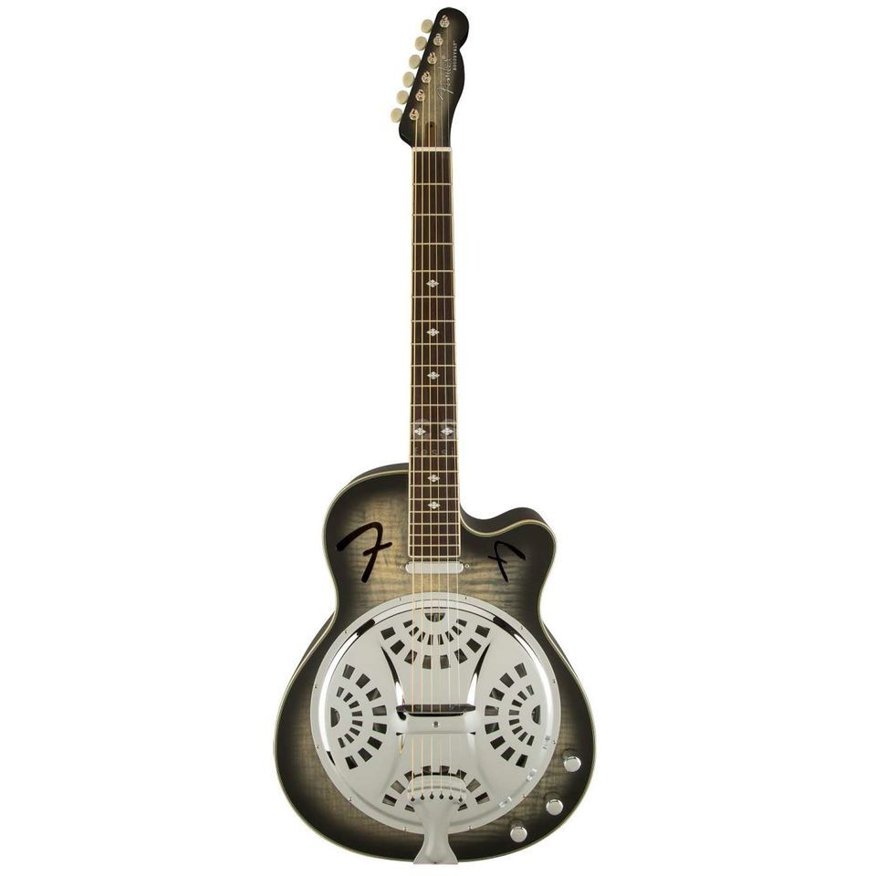 Fender Roosevelt Resonator CE MBB Moonlight Black Burst Produktbillede