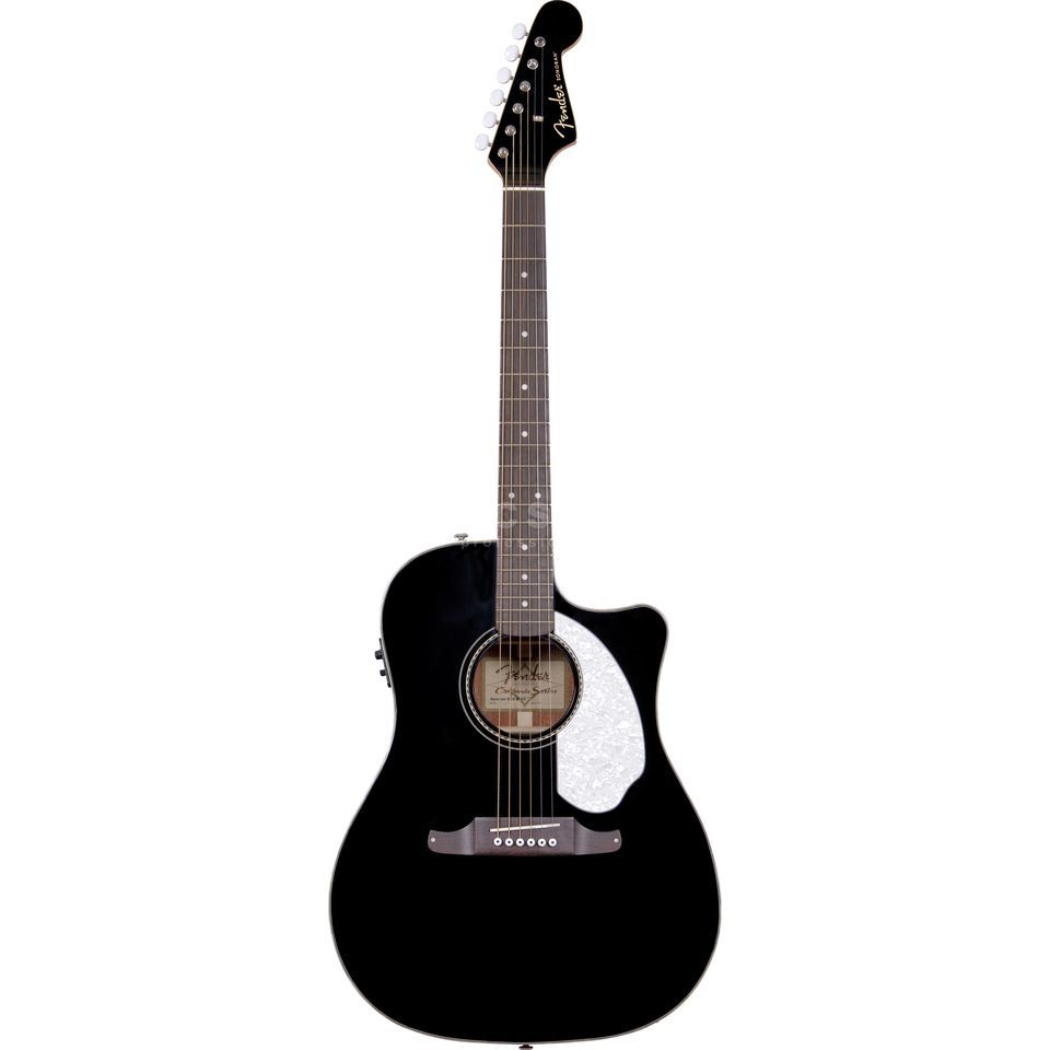 Fender Sonoran SCE Black Solid top, Fishman Isys III Produktbillede