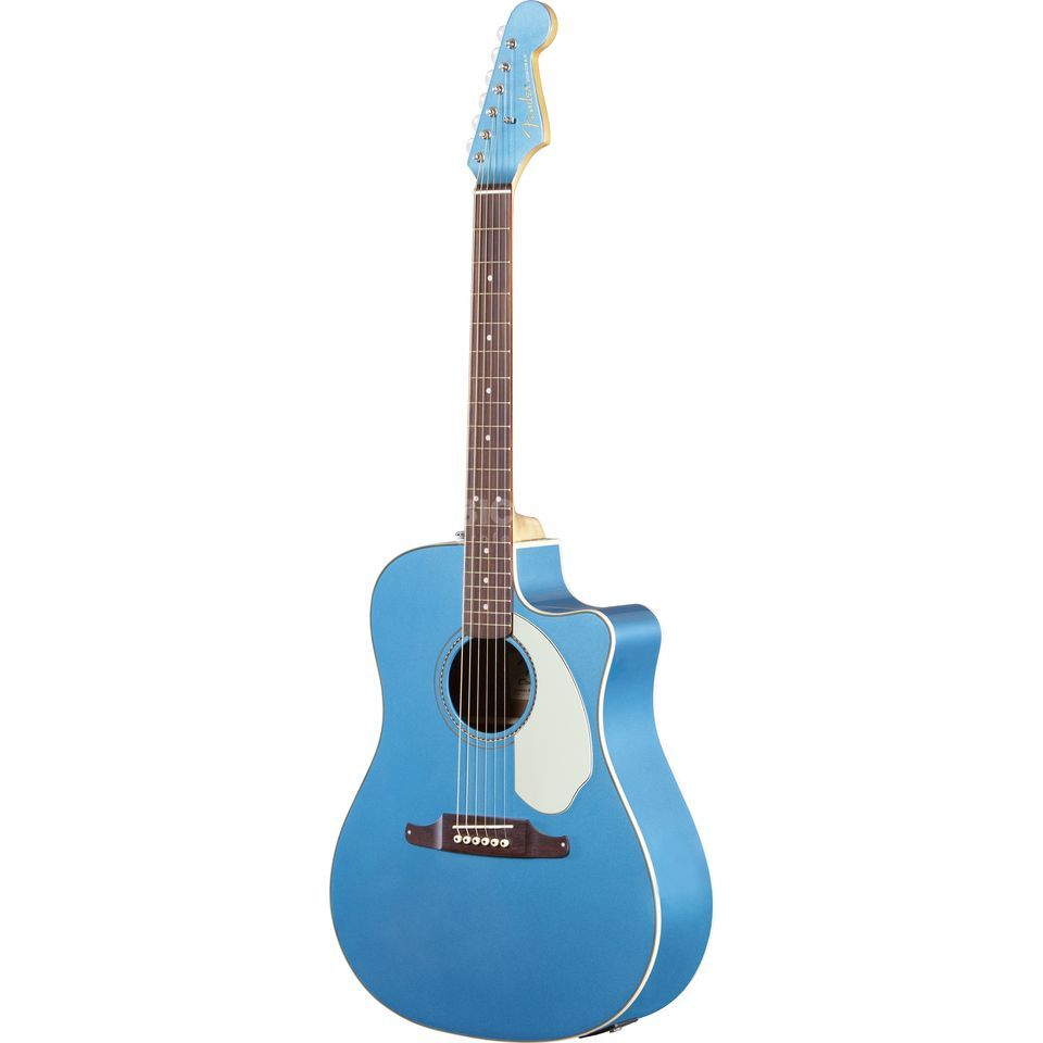 Fender Sonoran SCE Lake Placid Blue Solid top, Fishman Isys III Produktbillede
