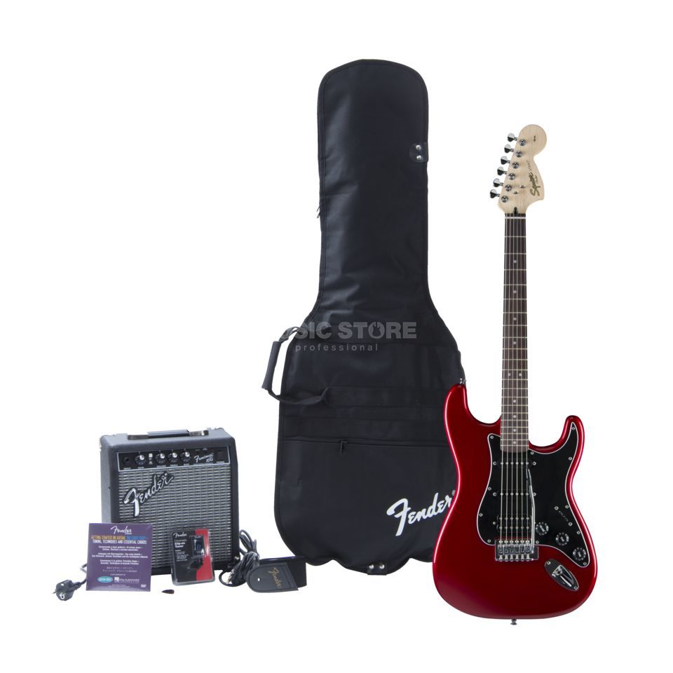 Fender Squier Affinity Series Strat HSS Pack Candy Apple Red w/ Fender Frontman 15G Amp Produktbild