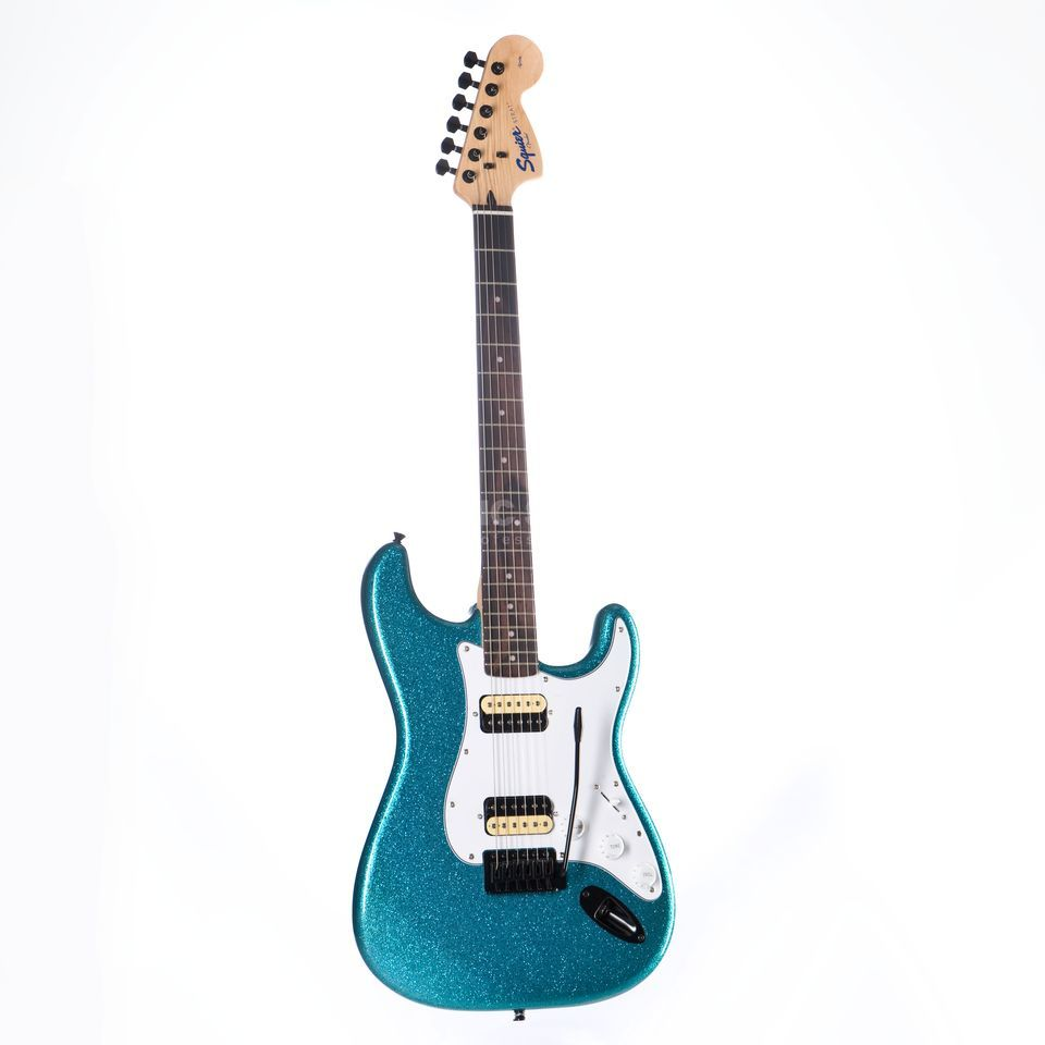 Fender Squier Affinity Series Stratocaster HH FSR Candy Blue Sparkle Product Image