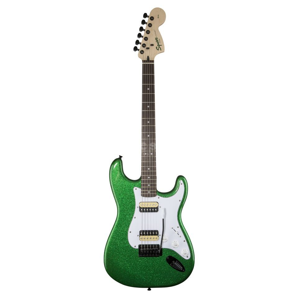 Fender Squier Affinity Series Stratocaster HH FSR Candy Green Sparkle Product Image