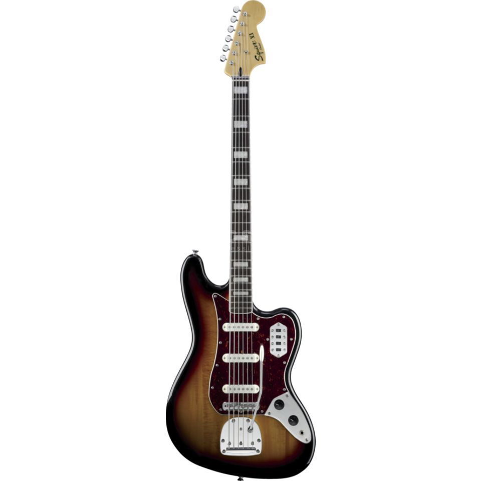 Fender Squier Squier VM Bass VI RW 3CS 3-Color Sunburst Produktbillede