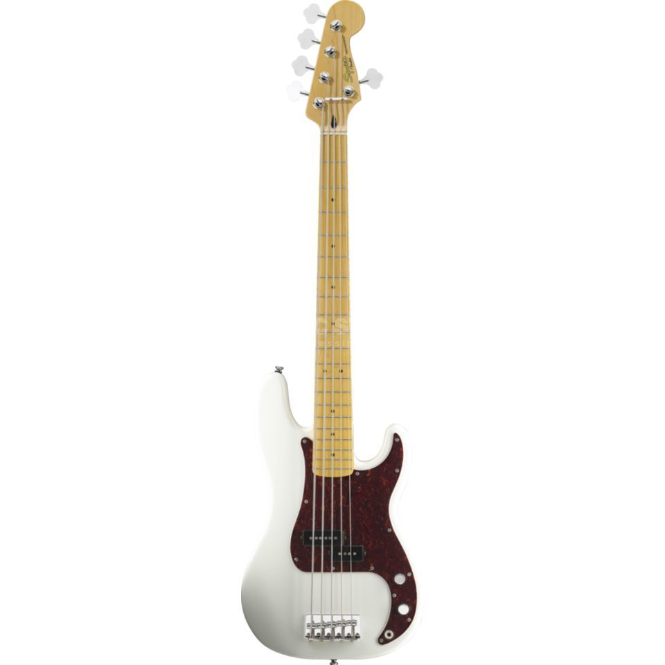 Fender Squier Vintage Modified Precision Bass V MN Olympic White Produktbild