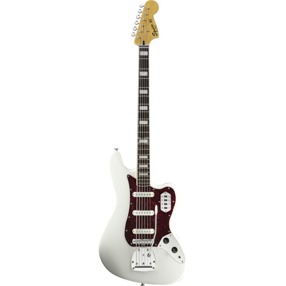 Fender Squier VM Bass VI RW OWH Olympic White Imagen del producto