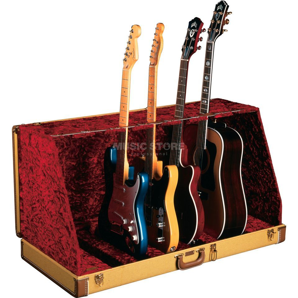 Fender Standcase Studio 7 Tweed Stõnder for 7 Gitarren im Case Produktbillede