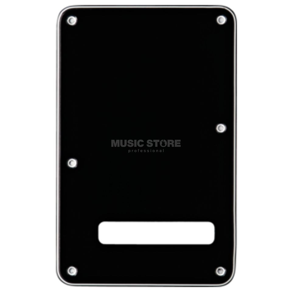 Fender Strat Tremolo Backplate black 3-ply Produktbild