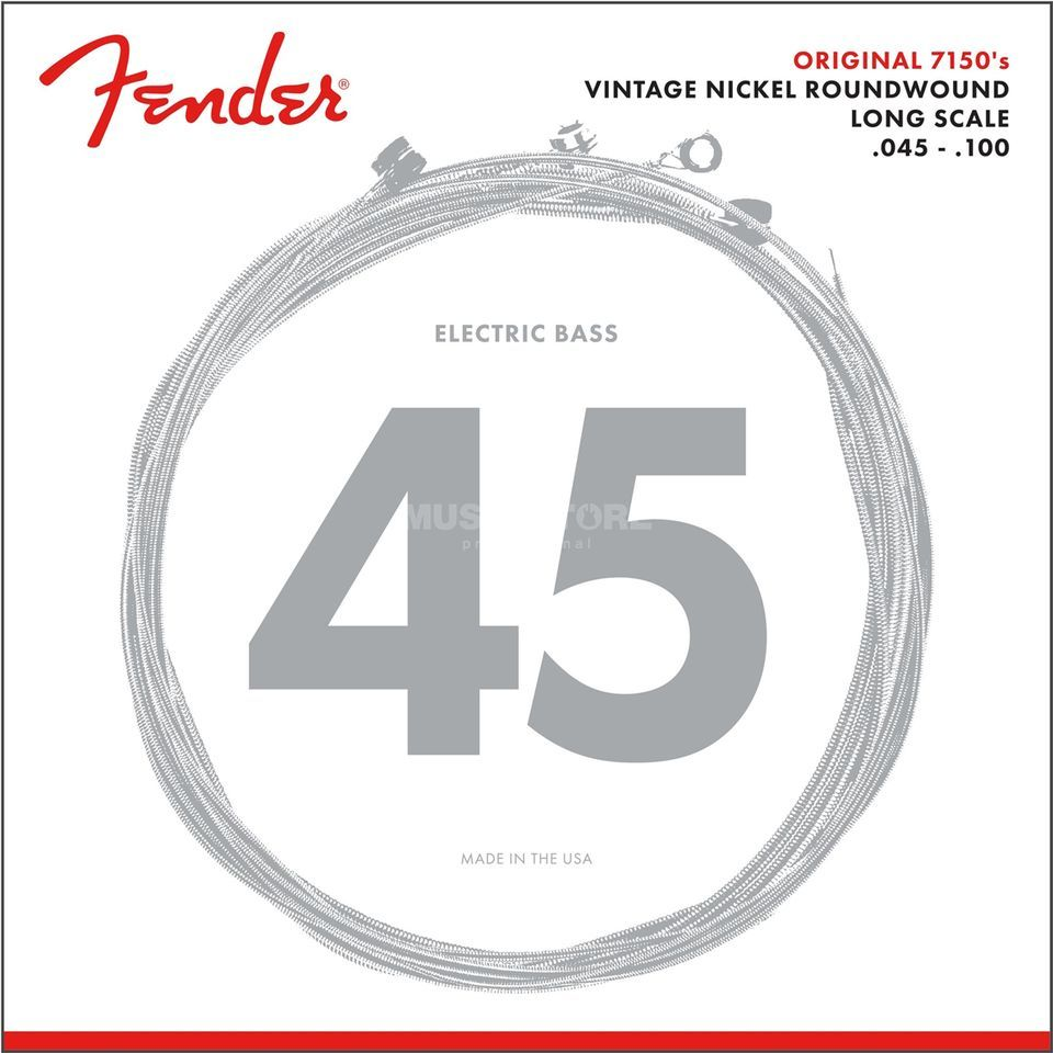 Fender String Original 7150 ML 45-100 Pure Nickel, Roundw.,Longscale Image du produit