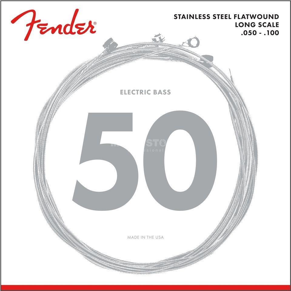 Fender Strings Flatwound 050 100 9050ML stainless steel Productafbeelding
