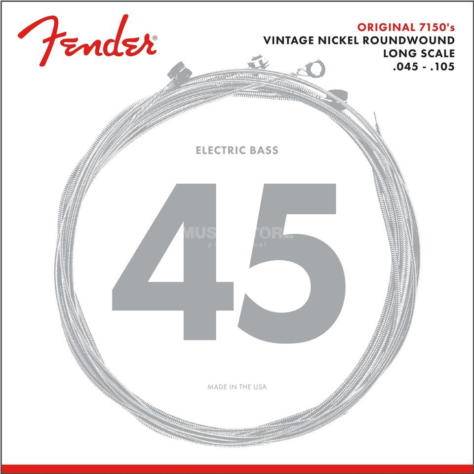 Fender Strings Original 7150 M 45-105 Pure Nickel, Roundw.,Longscale Image du produit