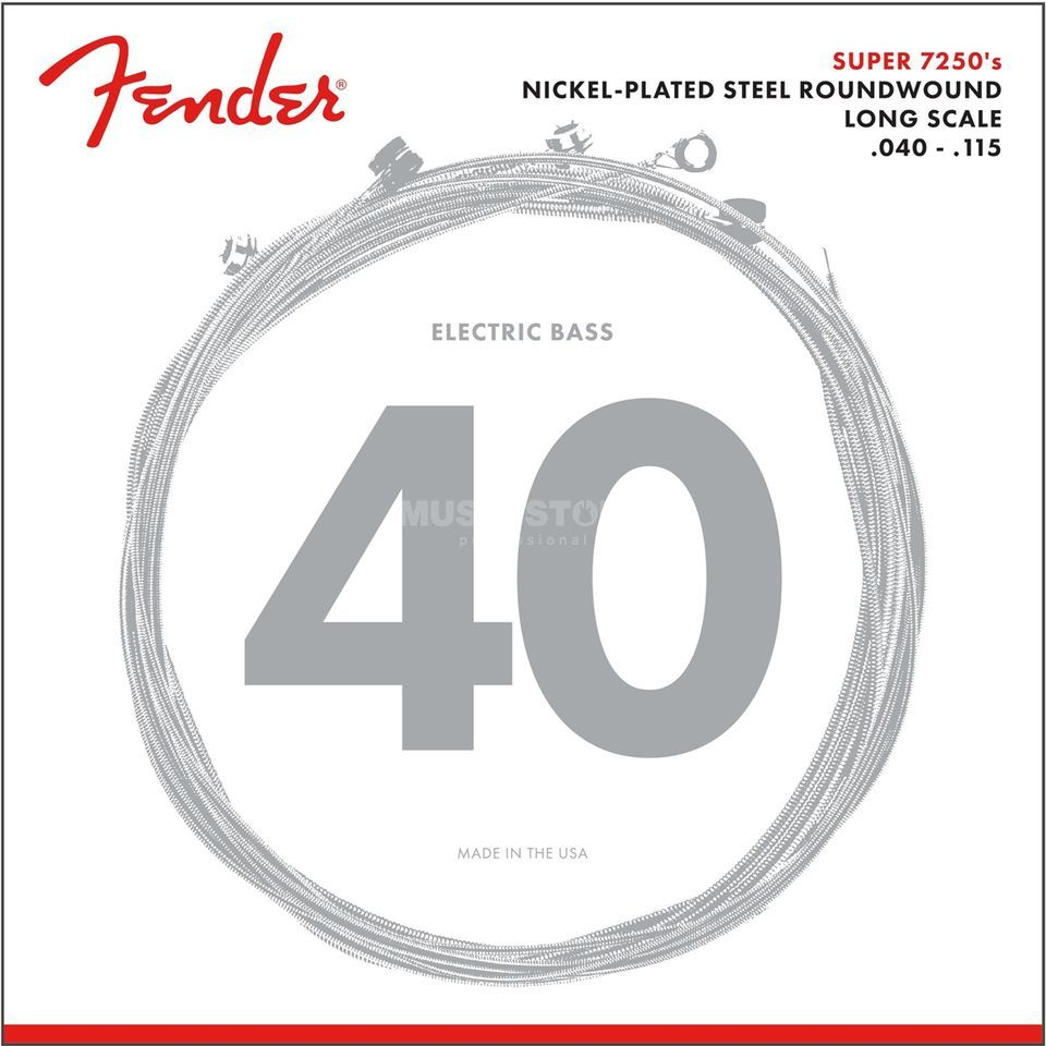 Fender Strings Super 7250 5L 40-115 Nickel Plated Steel, Roundwound, Longscale Immagine prodotto