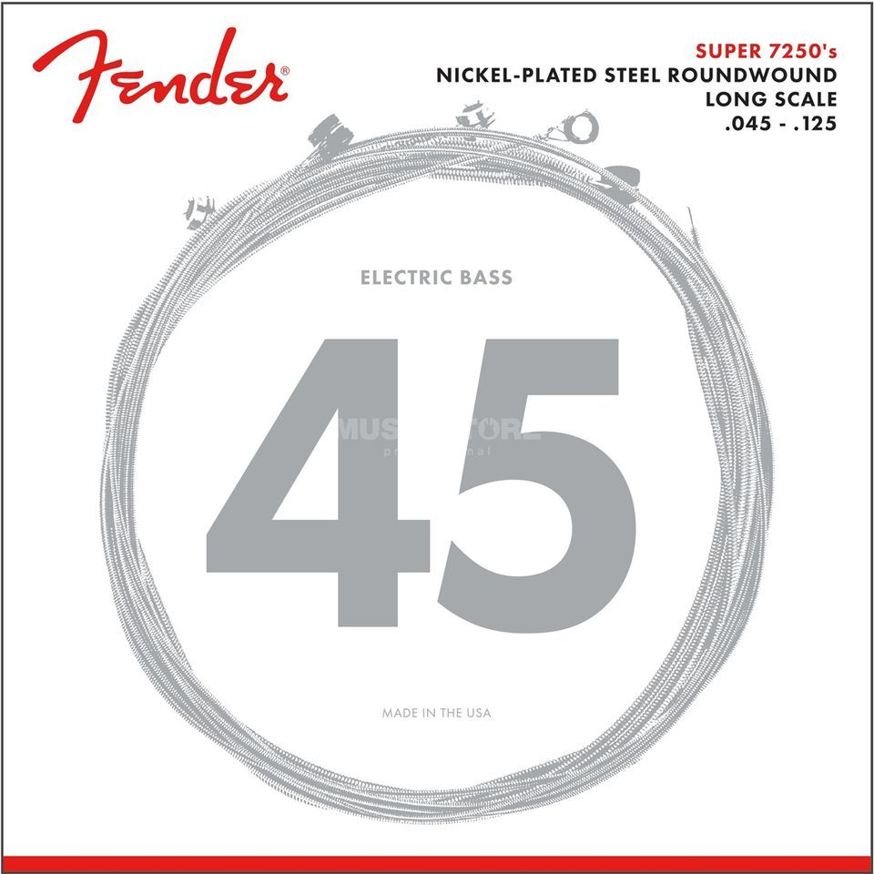 Fender Strings Super 7250 5M 45-125 Nickel Plated Steel, Roundwound, Longscale Product Image