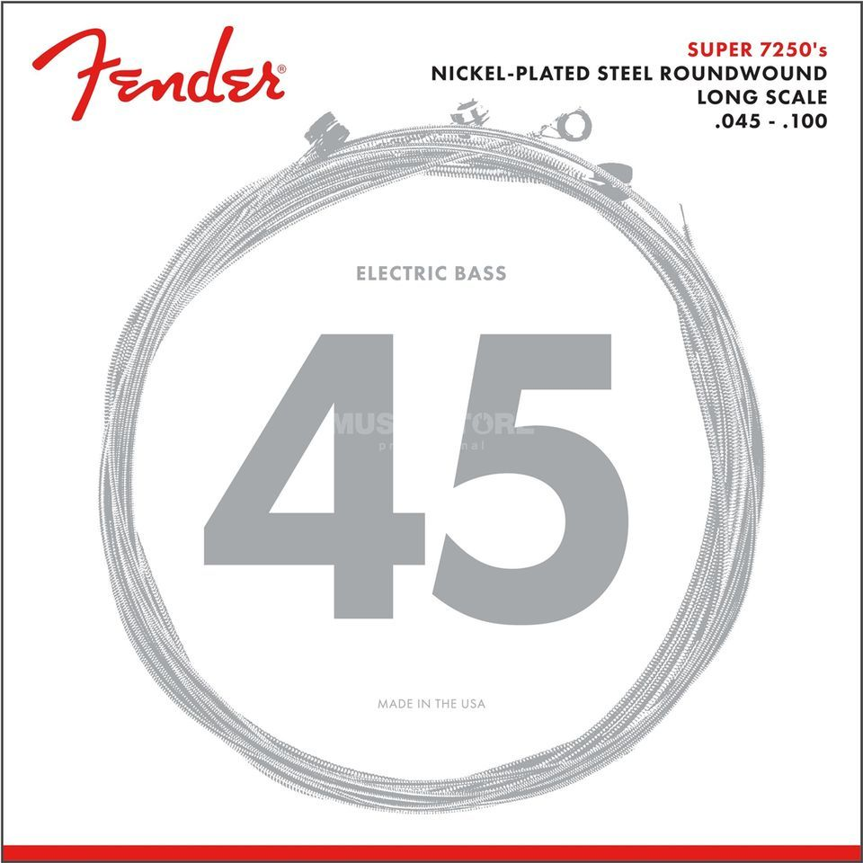 Fender Strings Super 7250 ML 45-100 nikkel Pl., Roenw. Longscale Productafbeelding