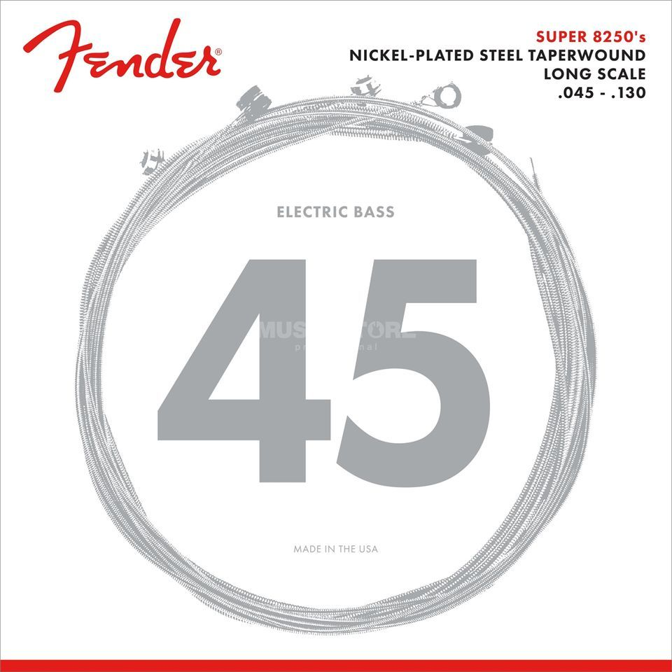 Fender Strings Super 8250-5 m 45-130TW Nickel Plated acier Image du produit