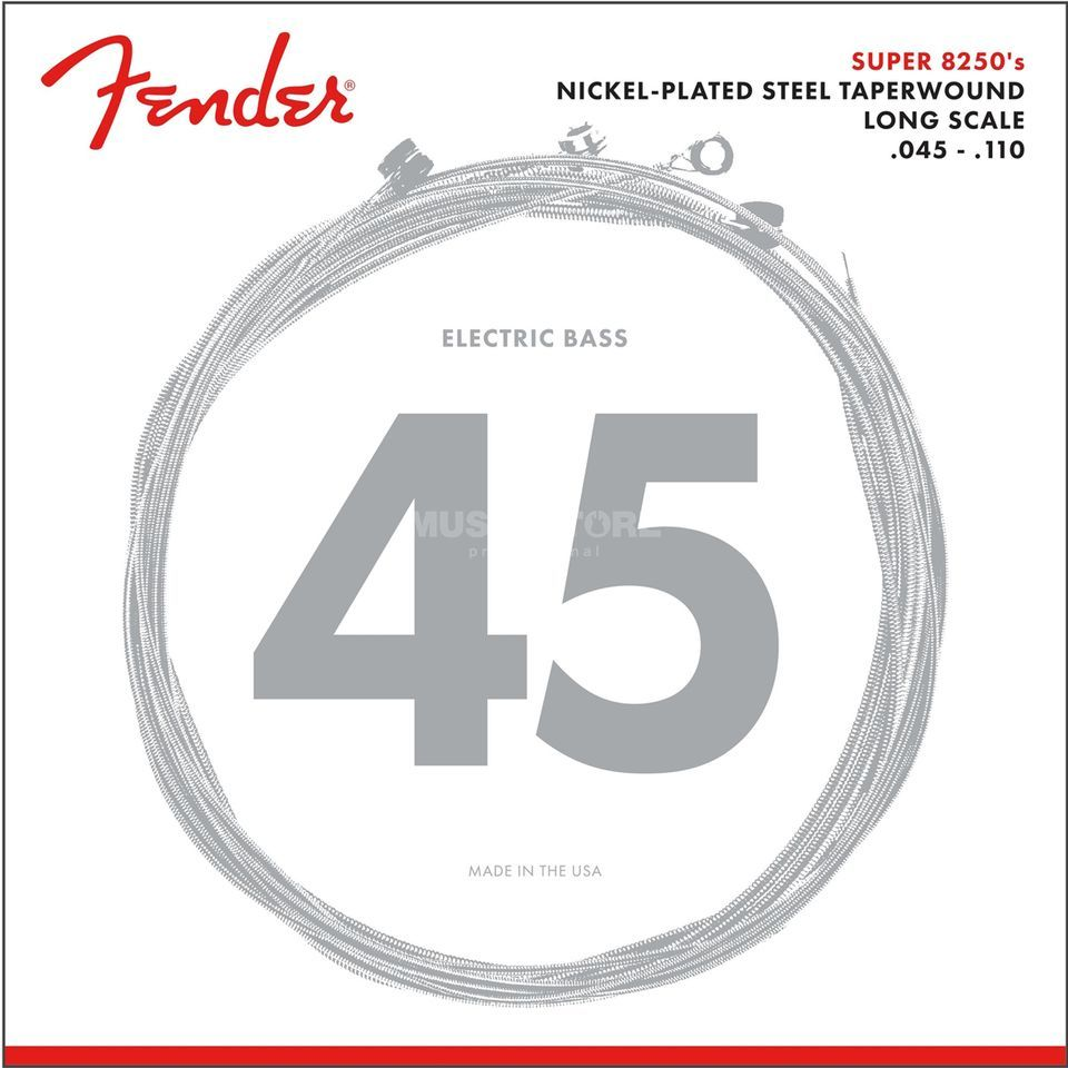 Fender Strings Super 8250 M 45-110TW Nickel Plated acier Image du produit