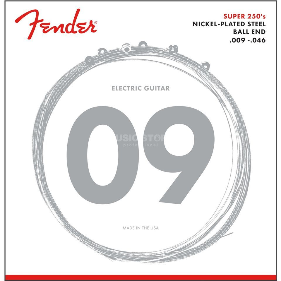 Fender Super 250LR Electric Guitar St rings   Produktbillede